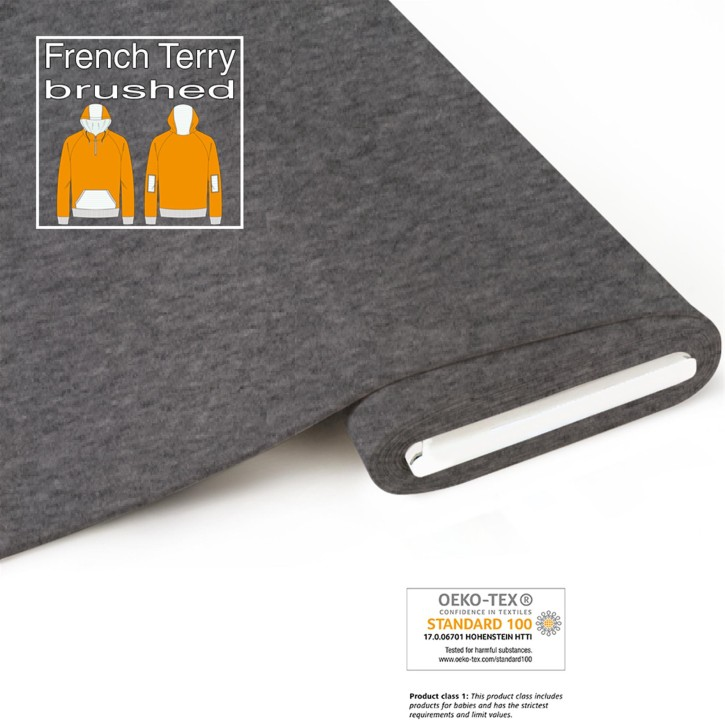 Bio French Terry (brushed) - meliert-grau